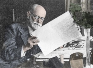 Sigmund Freud (1856-1939), Austrian psychologist. Freud theorized that mental illness could have psychological as well as physiological causes. He believed that the mind contains conscious and unconscious levels. bad memories are repressed and stored unco